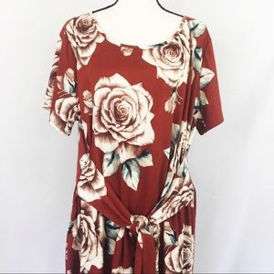 Piphany Rose Print Lex Dress